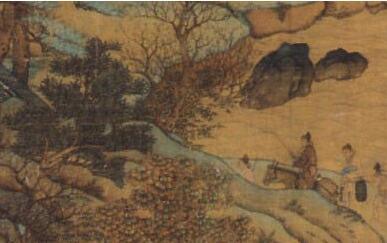 「杜康酒图片」唐代山水画家李思训《江帆楼阁图》的内容及特点
