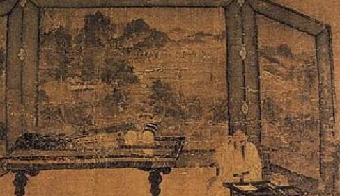 [收藏品市场]王齐翰《勘书图》:古代文人的文艺气息十足