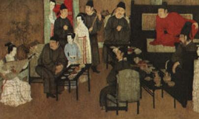 「鹤顶红图片」顾闳中传世作品《韩熙载夜宴图》