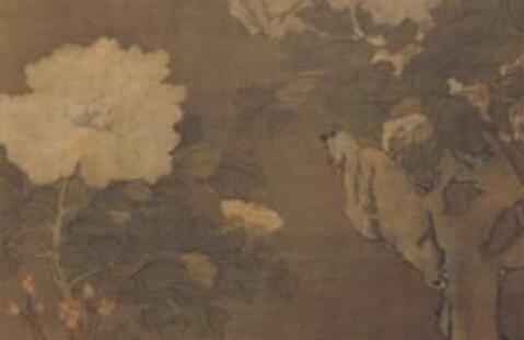 「乌木价格」五代传世名画《牡丹轴》,墨笔钩勒花瓣惟妙惟肖